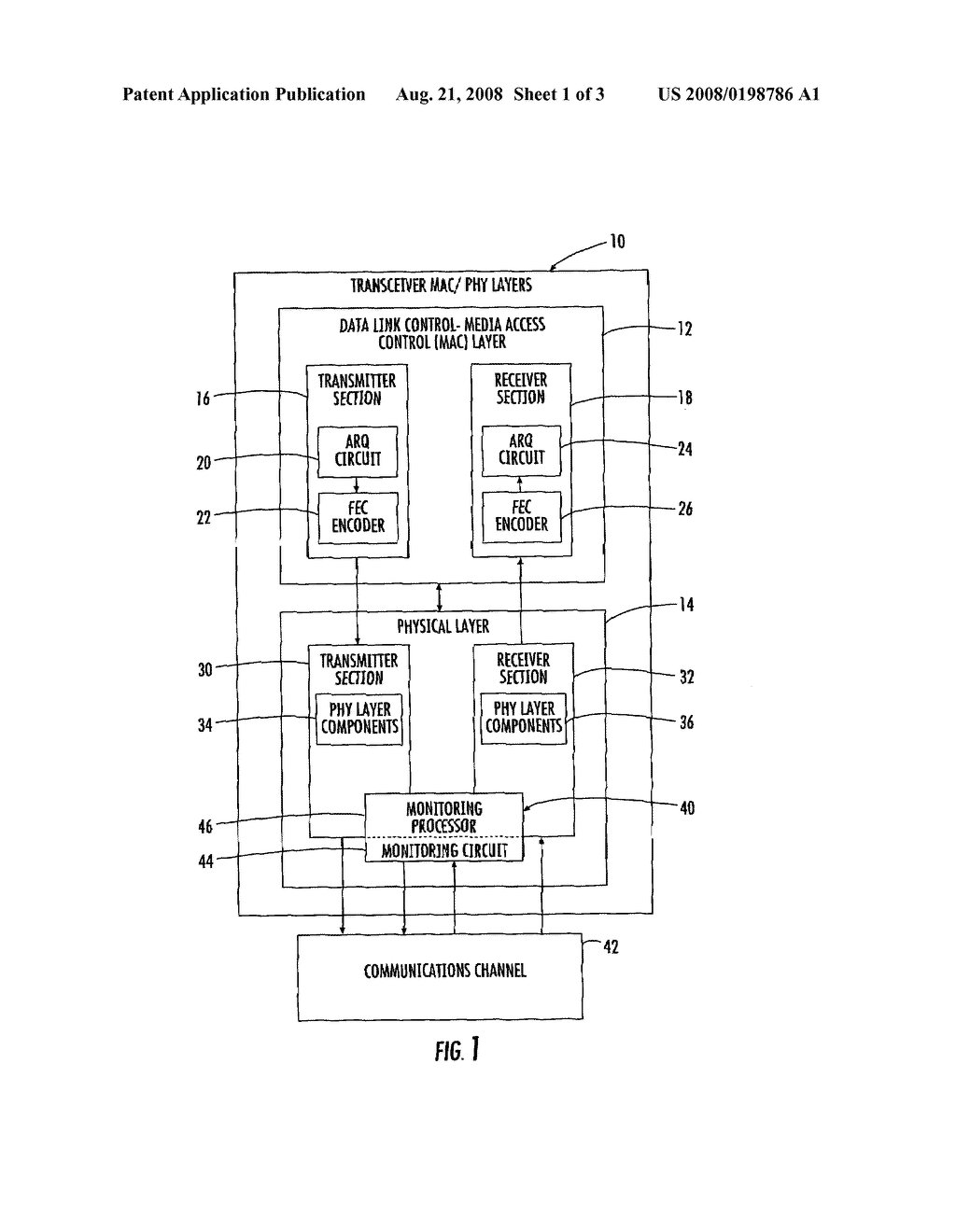 AUTOMATIC REPEAT REQUEST (ARQ) COMMUNICATION SYSTEM USING PHYSICAL LAYER MONITORING - diagram, schematic, and image 02