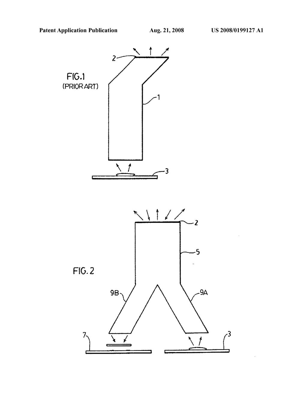 SHARED LIGHT PIPE FOR MESSAGE INDICATOR AND LIGHT SENSOR - diagram ...