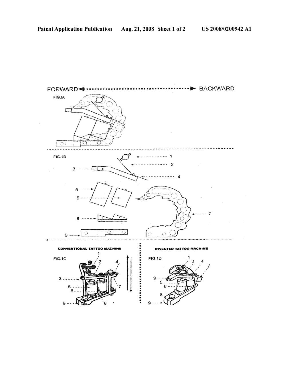 Oblique Tattoo Machine Diagram Schematic And Image 02