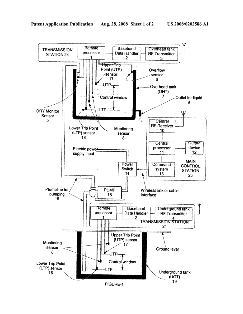 automatic wireless liquid water level controller diagram RF Controller and Receiver automatic wireless liquid water level controller diagram schematic and image 02
