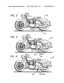 Custom motorcycle air suspension parking stand diagram and image