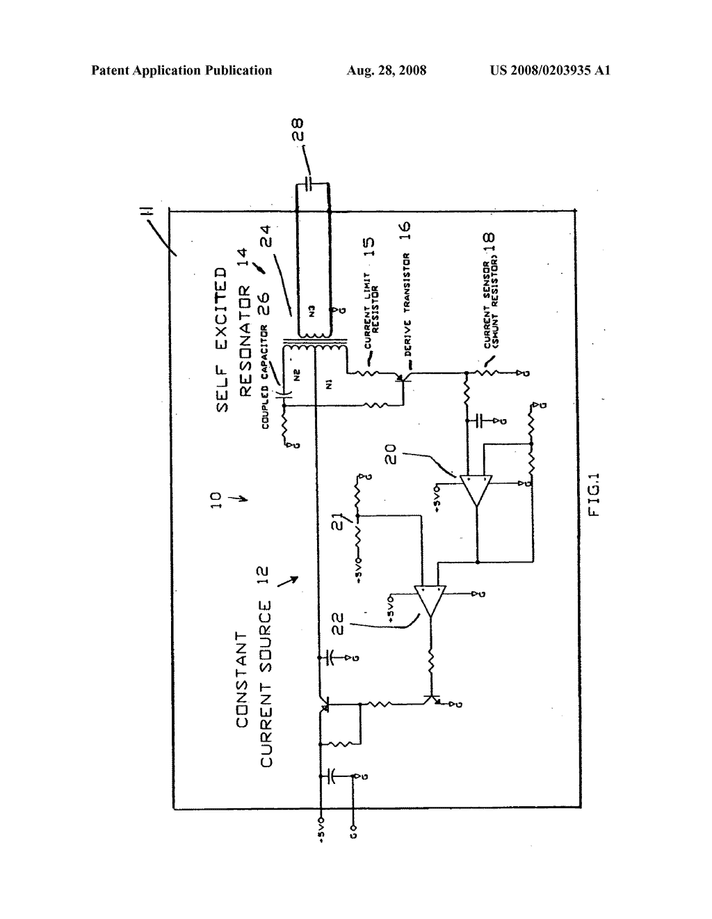Limited Current Circuit For Electro Luminescent Lamp Inverter Transistor Diagram Schematic And Image 02