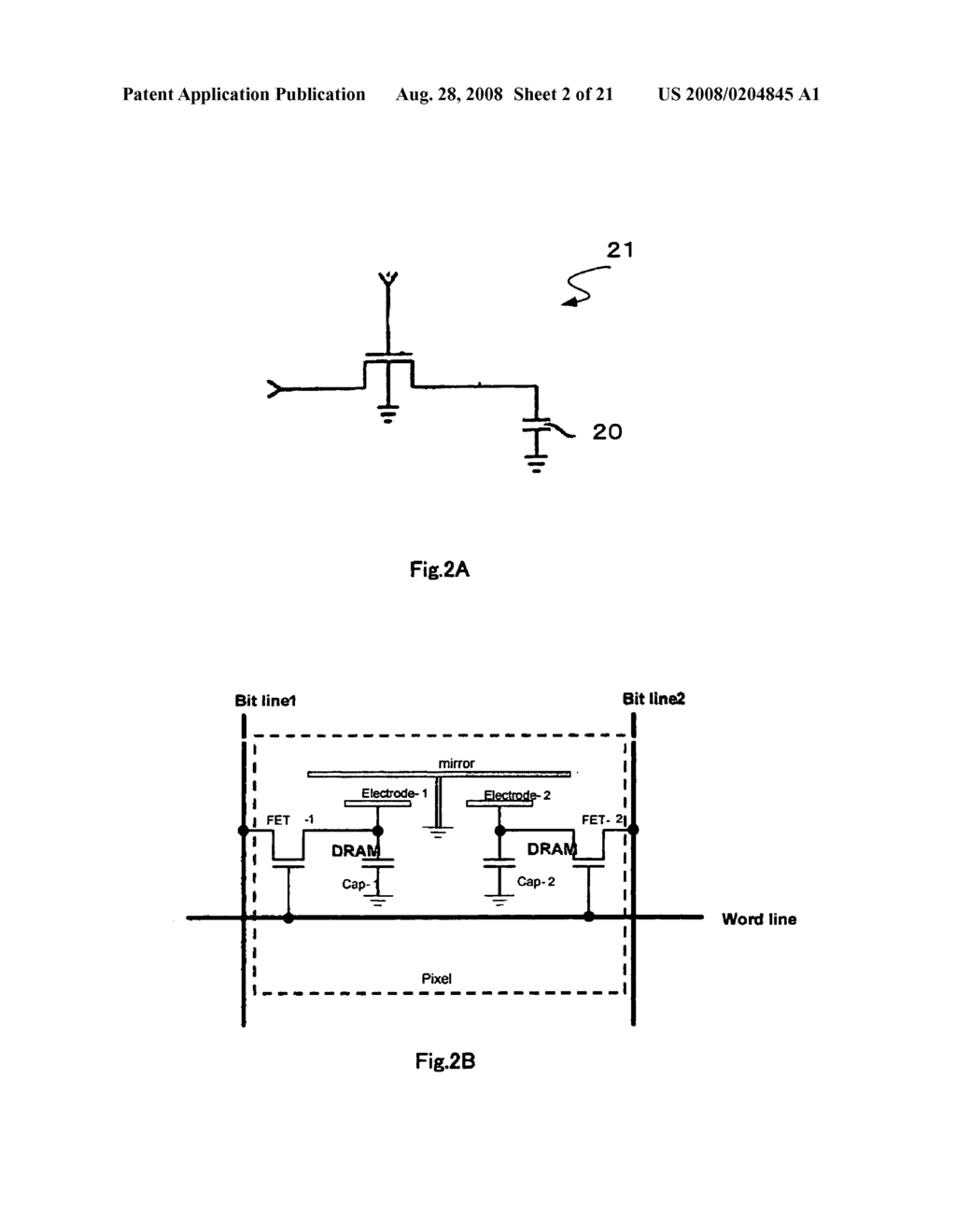 Micromirror device with a single address electrode - diagram, schematic, and image 03