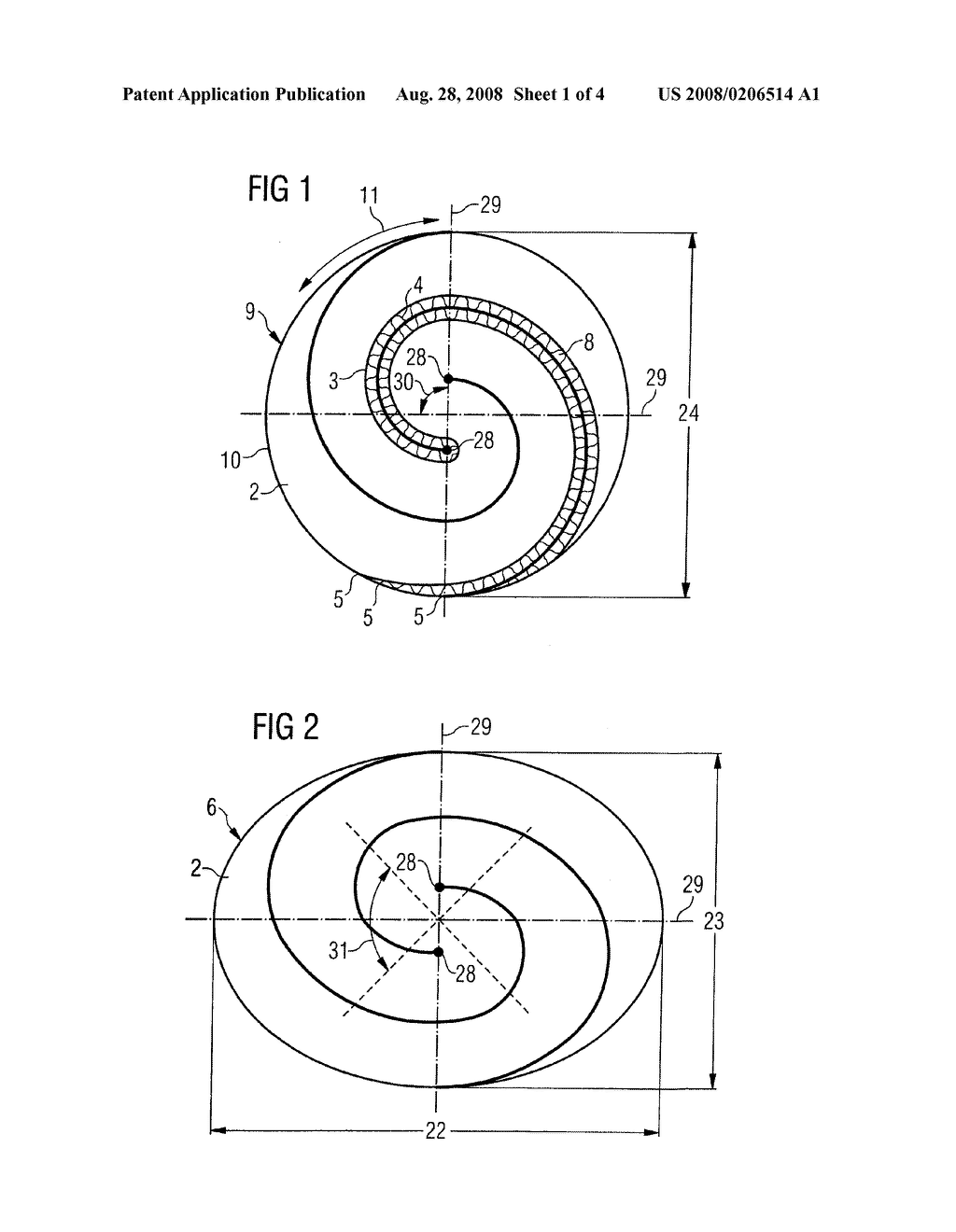 Non-Cylindrical Catalytic-Converter Carrier Element and Tool, and Method for Manufacturing it - diagram, schematic, and image 02