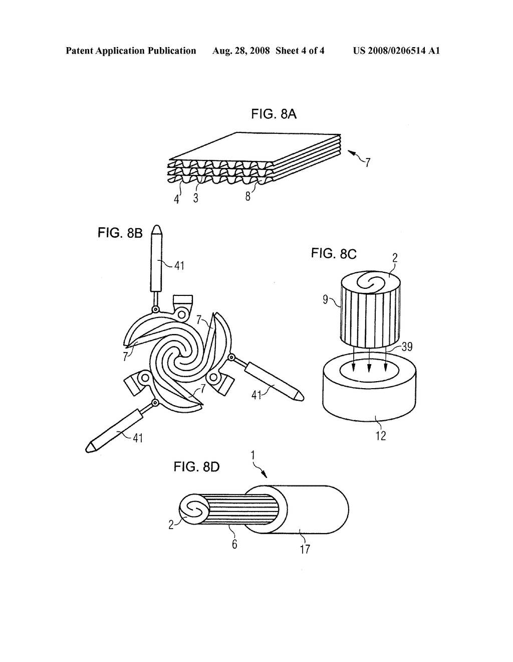 Non-Cylindrical Catalytic-Converter Carrier Element and Tool, and Method for Manufacturing it - diagram, schematic, and image 05