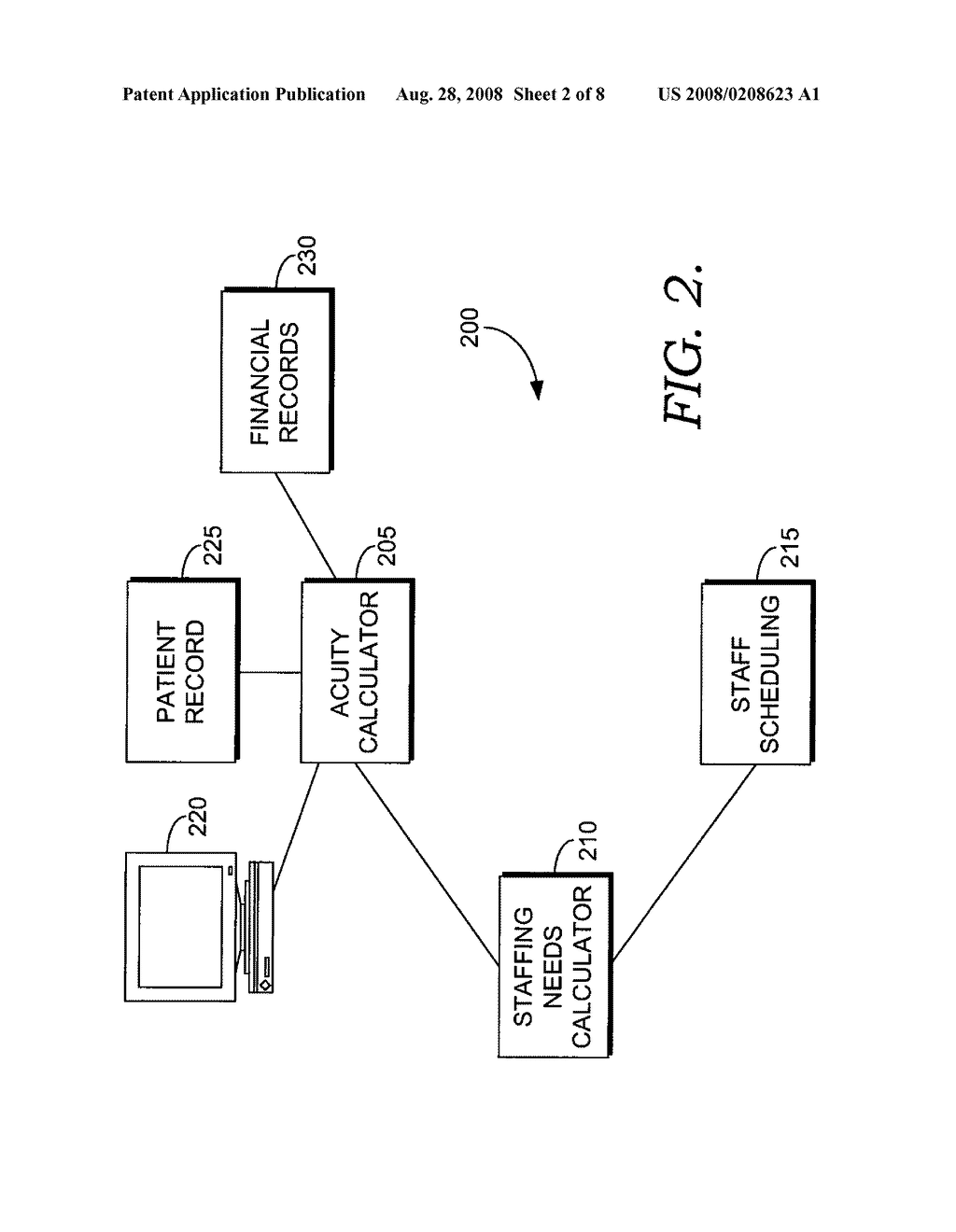 SYSTEM AND METHOD FOR DETERMINING AND DISPLAYING ACUITY LEVELS FOR PATIENTS - diagram, schematic, and image 03