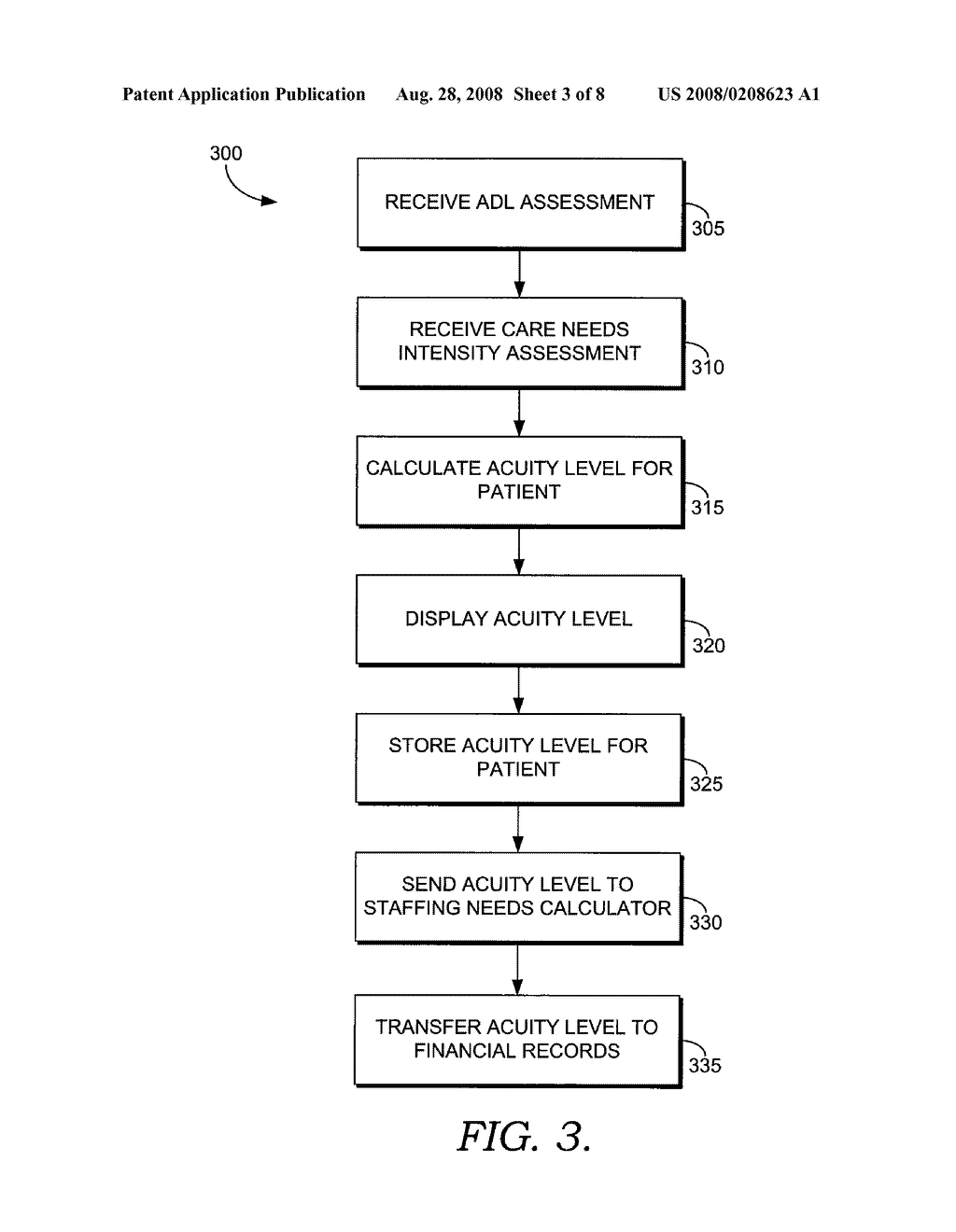 SYSTEM AND METHOD FOR DETERMINING AND DISPLAYING ACUITY LEVELS FOR PATIENTS - diagram, schematic, and image 04