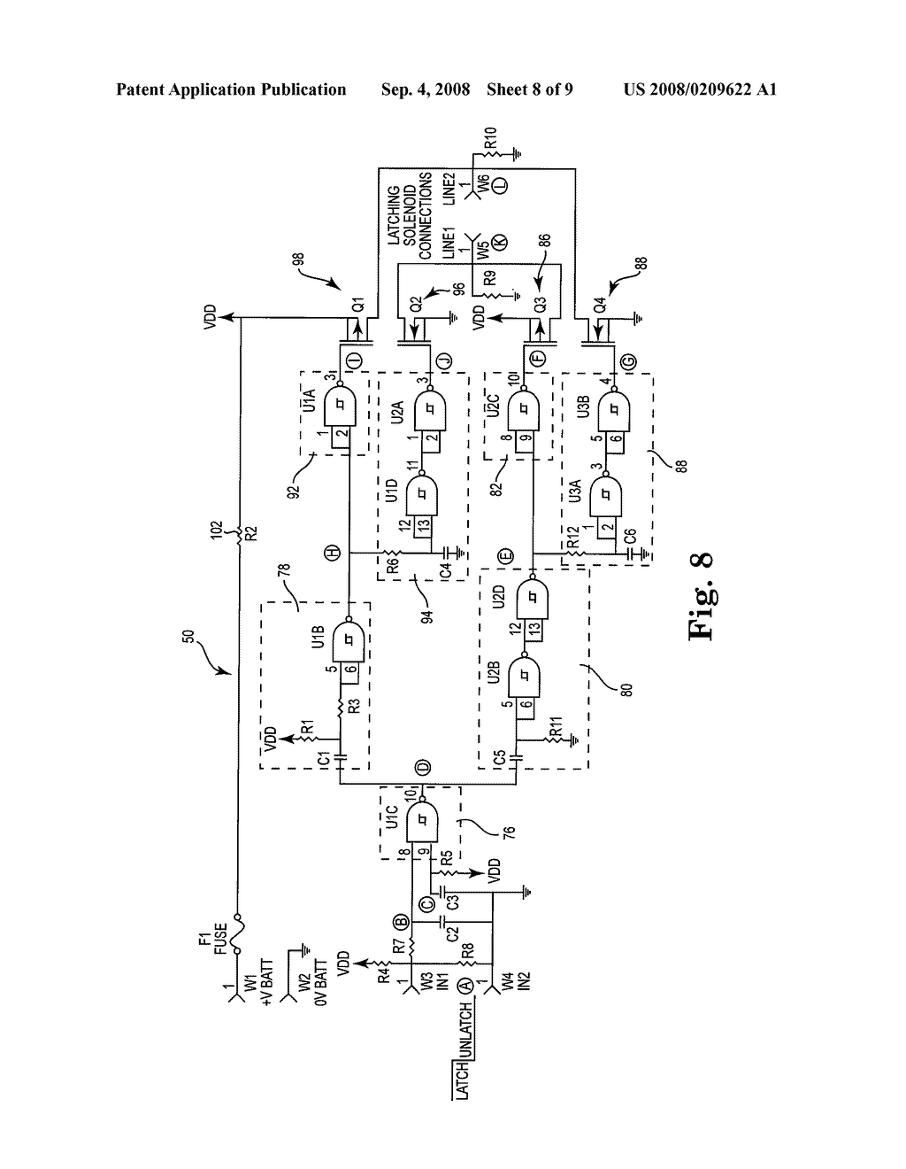 Electronic toilet tank monitor utilizing a bistable latching