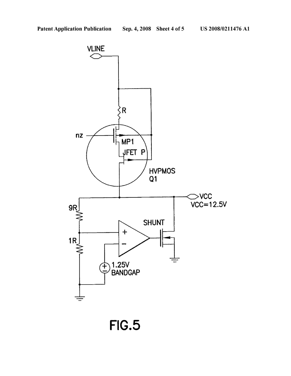 High Voltage Shunt Regulator Circuit With Dependent Resistor Diagram Schematic And Image 05