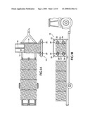 Hay bale flake-separating and flake-dispensing system and device diagram and image