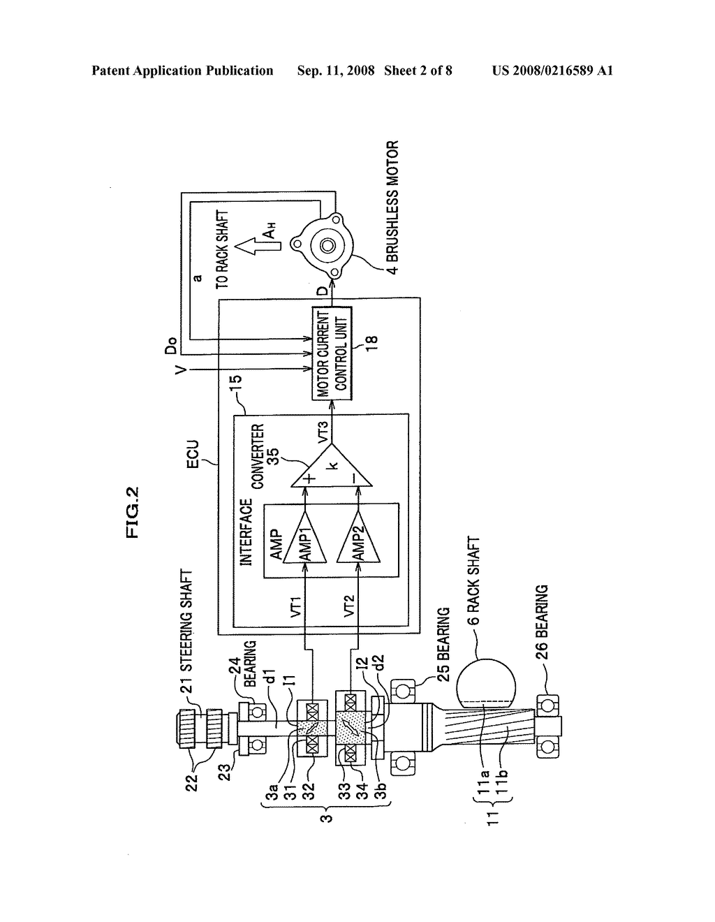 magnetostrictive torque sensor and electric power steering apparatus rh patentsencyclopedia com power steering schematic 2012 journey power steering schematic