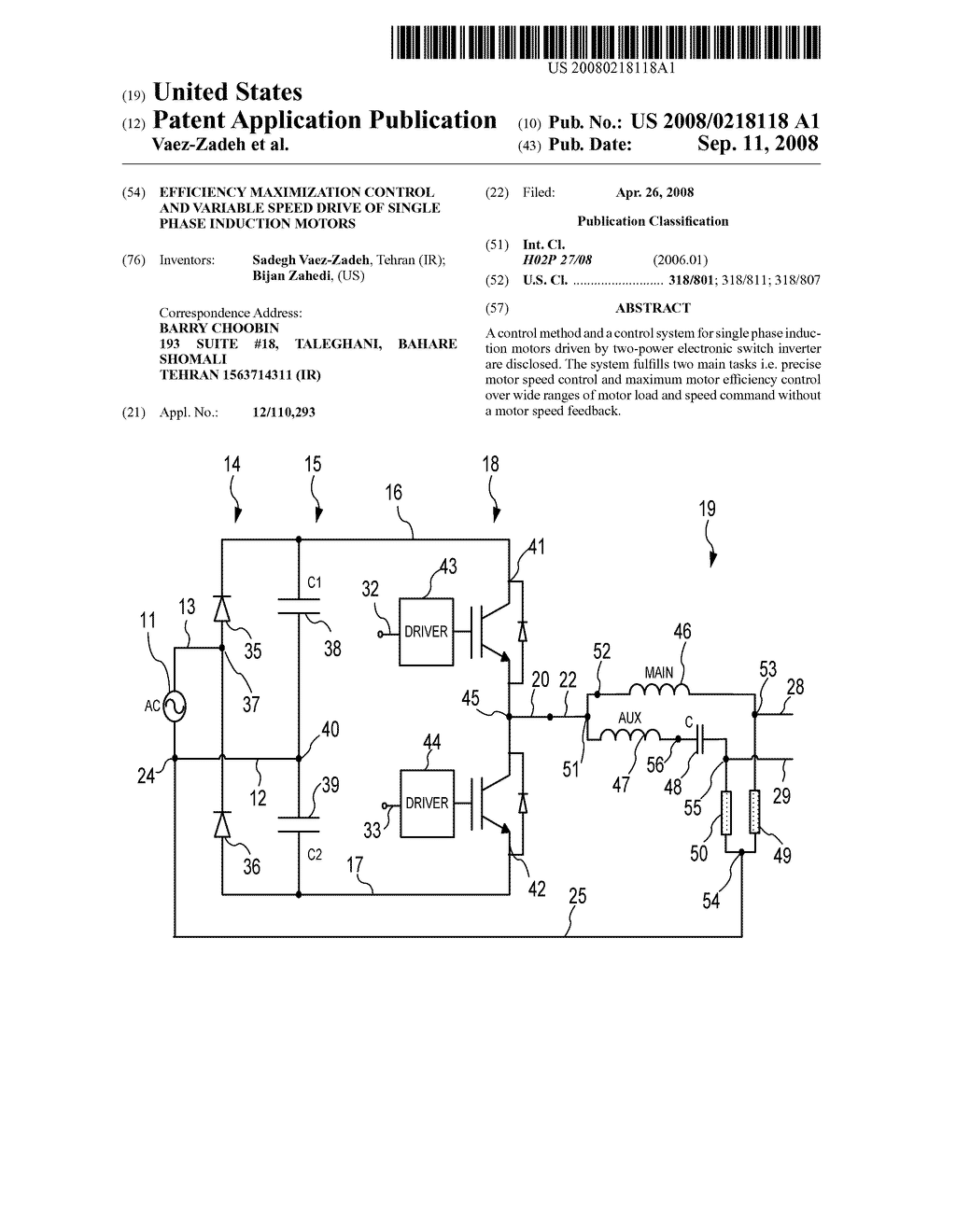 Efficiency Maximization Control and Variable Speed Drive of
