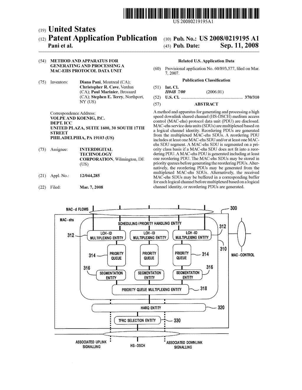 METHOD AND APPARATUS FOR GENERATING AND PROCESSING A MAC-ehs ...