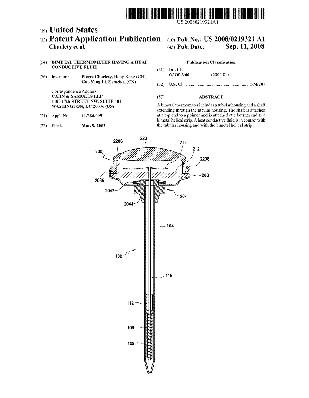 20080219321_01 bimetal thermometer having a heat conductive fluid diagram