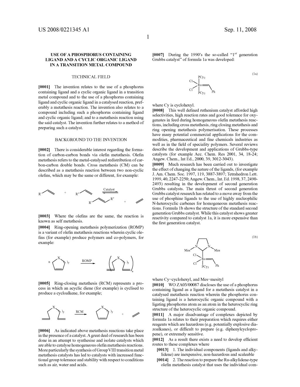 Use of a Phosphorus Containing Ligand and a Cyclic Organic Ligand in a Transition Metal Compound - diagram, schematic, and image 02