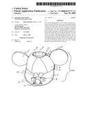 Solar fan hat with interchangeable ears diagram and image