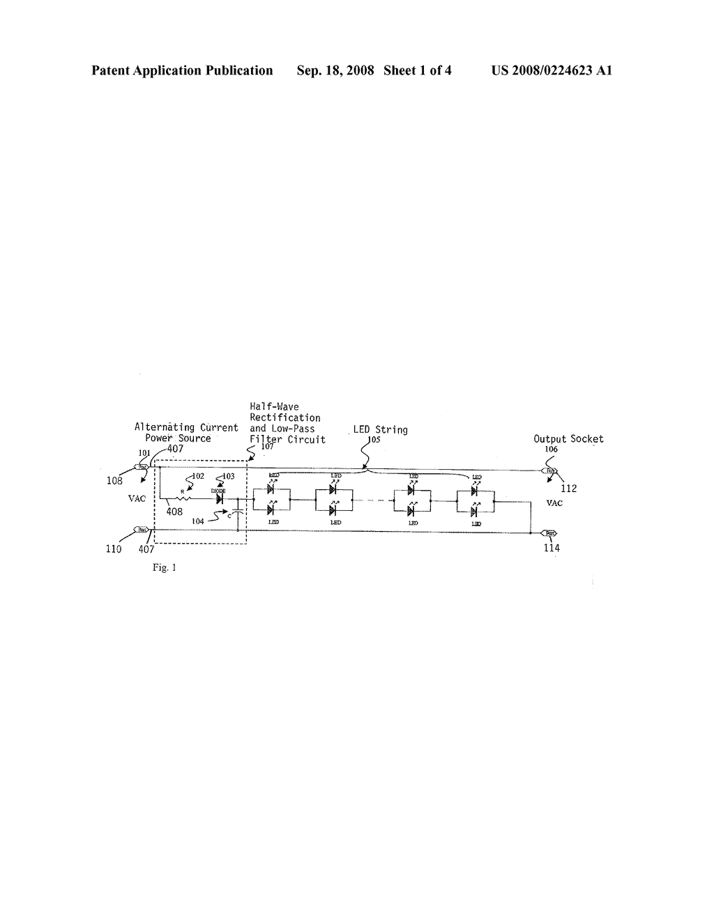 Half Wave Rectification Circuit With A Low Pass Filter For Led Light Lowpass Diagram Basiccircuit Strings Schematic And Image 02