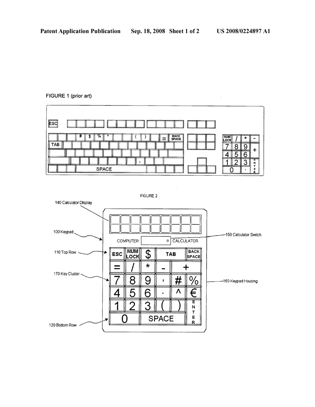 Computer keypad for improved input efficiency - diagram, schematic, and image 02