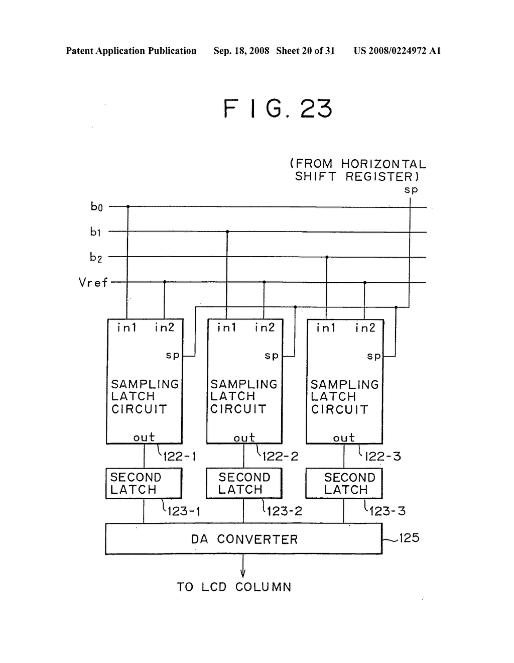 digital analog converter circuit level shift circuit shift rh patentsencyclopedia com Shift Register Diagram Block Shift Register Timing Diagram