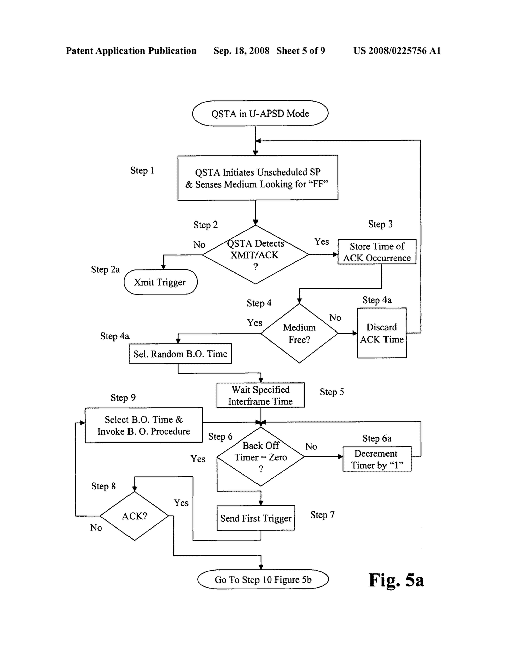 Method for synchronizing U-APSD trigger frames - diagram, schematic, and image 06