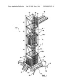 PORTABLE FREESTANDING ELEVATOR diagram and image