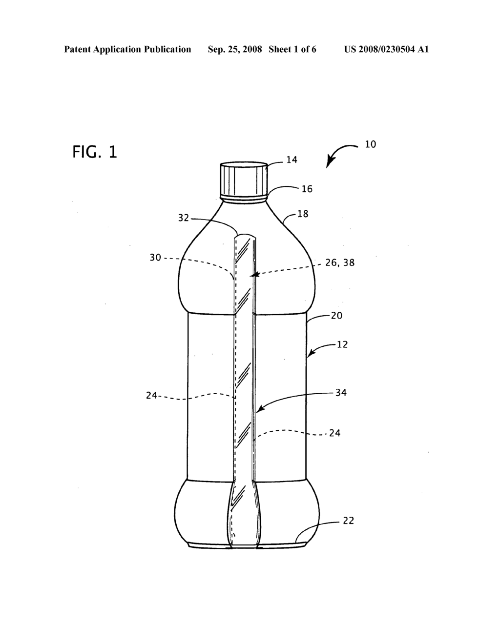 Beverage bottle with resealable storage compartment - diagram, schematic, and image 02