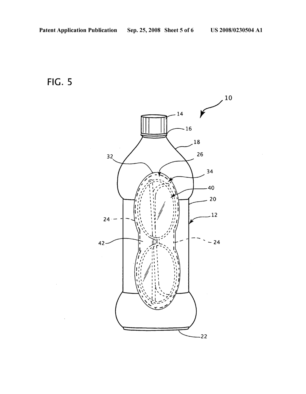 Beverage bottle with resealable storage compartment - diagram, schematic, and image 06