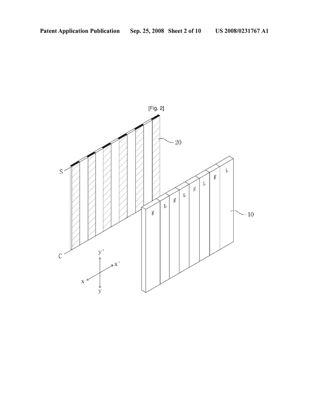 Cell Type Parallax-Barrier and Stereoscopic Image Display Apparatus Using the Same - diagram, schematic, and image 03