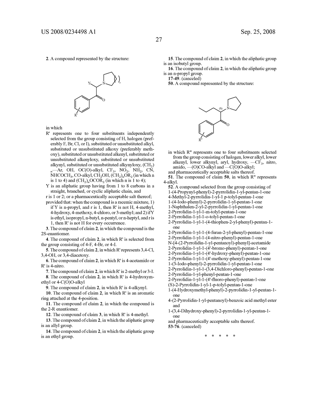 Pyrovalerone Analogues and Therapeutic Uses Thereof - diagram, schematic, and image 30
