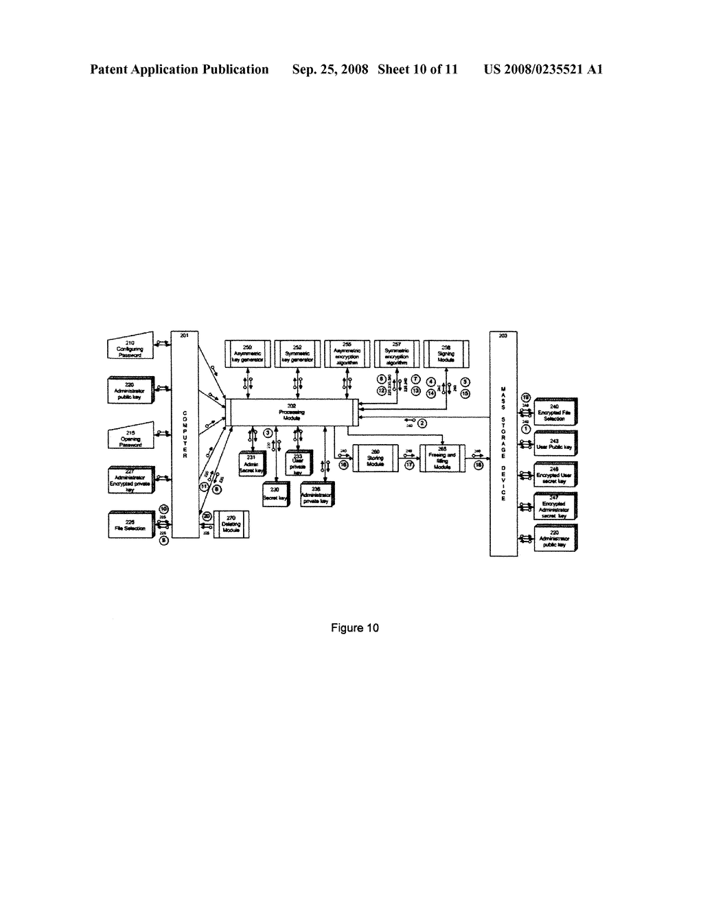METHOD AND ENCRYPTION TOOL FOR SECURING ELECTRONIC DATA STORAGE DEVICES - diagram, schematic, and image 11
