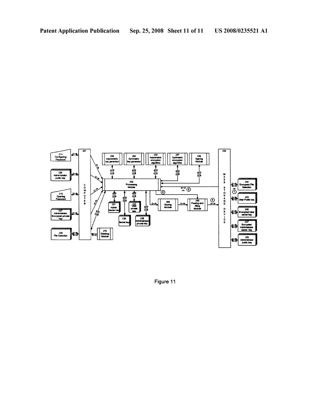 METHOD AND ENCRYPTION TOOL FOR SECURING ELECTRONIC DATA STORAGE DEVICES - diagram, schematic, and image 12