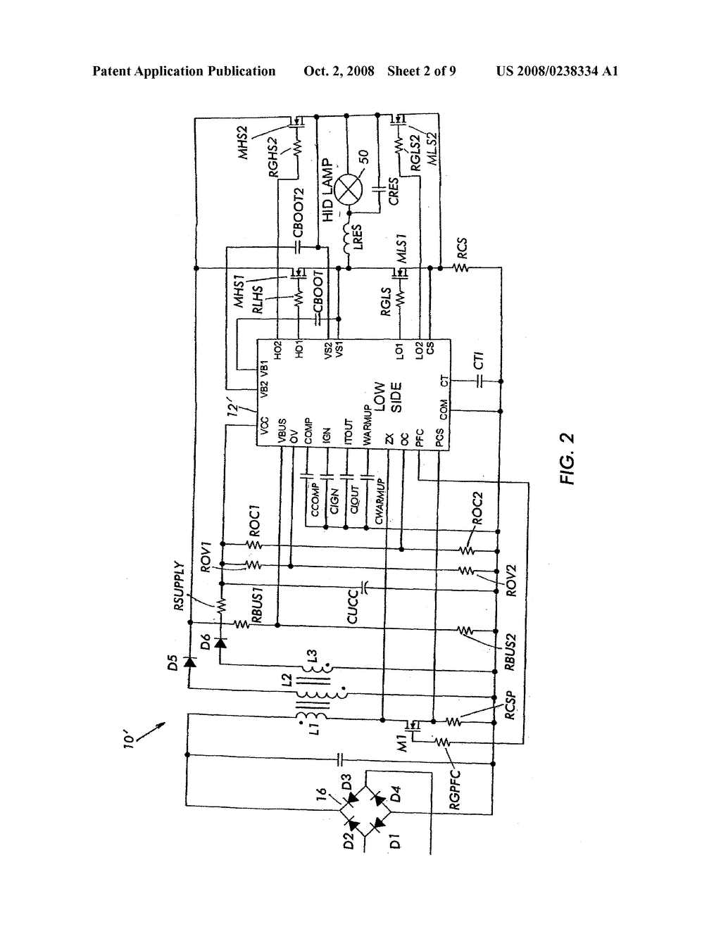 Hid Ballast Circuit Diagram Simple Wiring Options Using Incandescent And Capacitor Ledandlightcircuit Lamp Schematic Image 03 Metal Halide Light