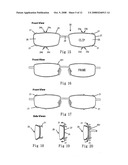 Hook components with nylon strings elasticity mechanism for eyeglasses diagram and image