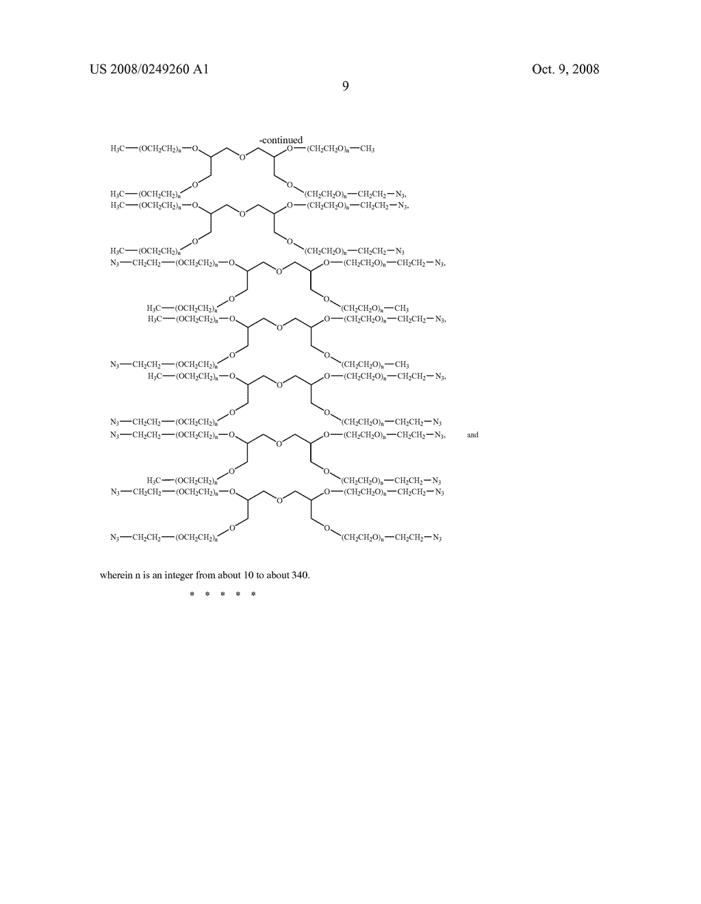 Methods of preparing polymers having terminal amine groups - diagram, schematic, and image 10