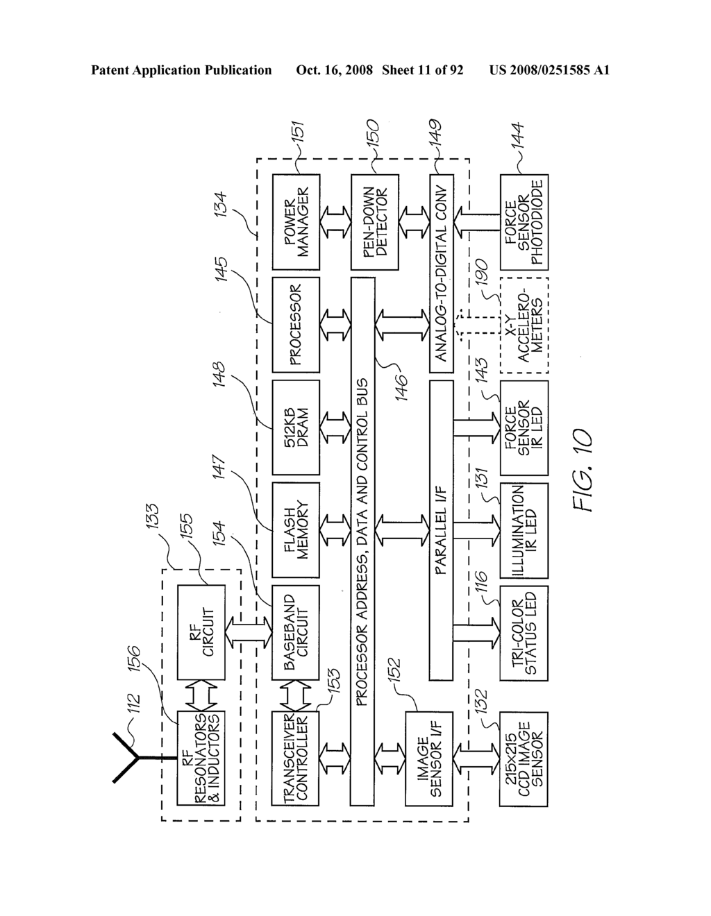 OBJECT SCANNING SYSTEM WITH A SENSING DEVICE FOR GENERATING INDICATING DATA - diagram, schematic, and image 12