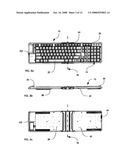 FOLDING KEYBOARD WITH NUMERIC KEYPAD diagram and image