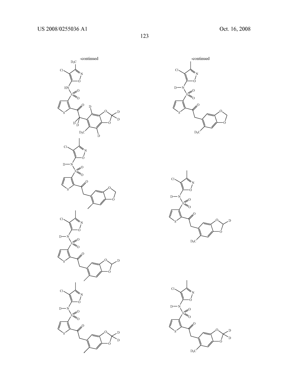 SUBSTITUTED THIOPHENES - diagram, schematic, and image 124