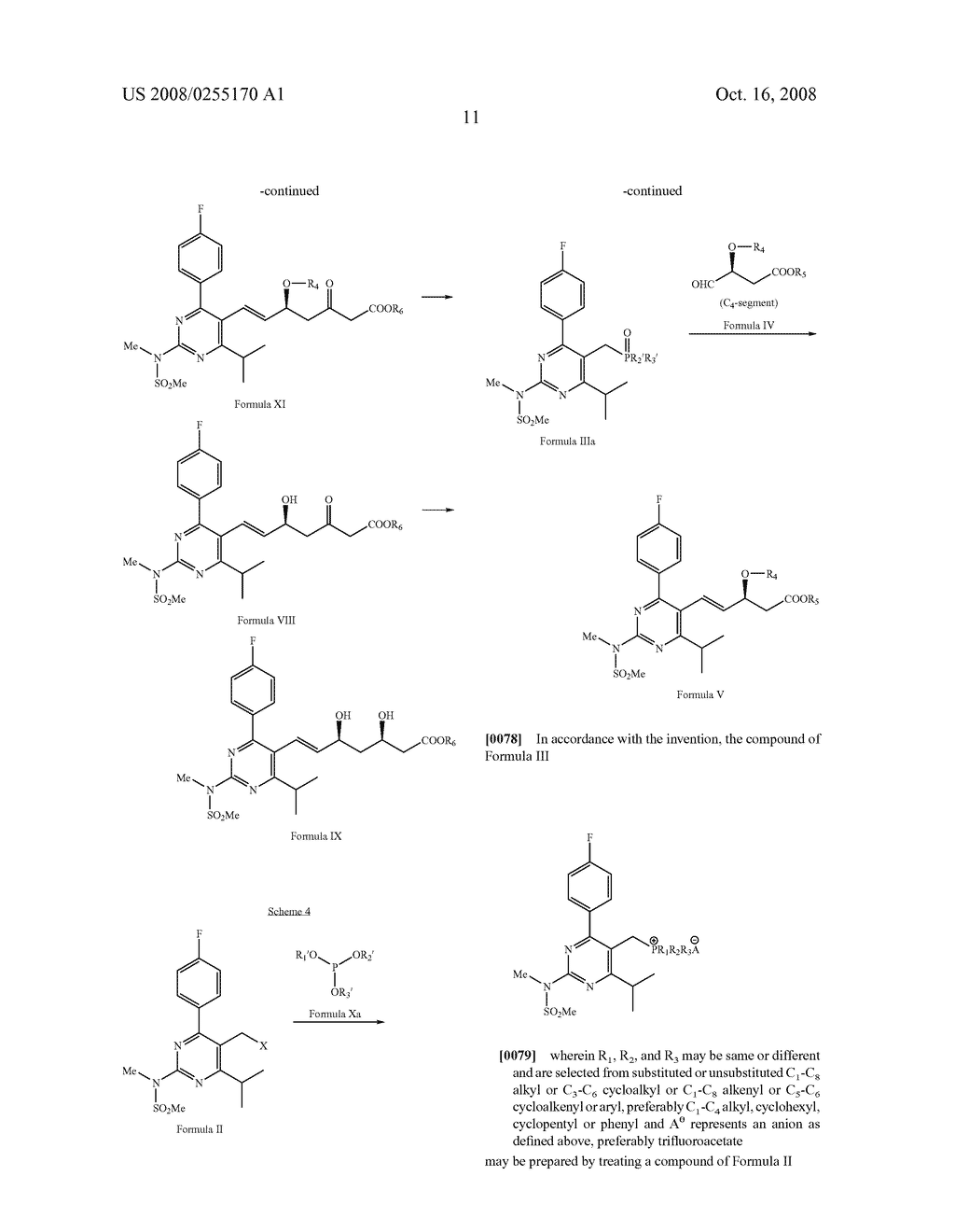 Process for the Synthesis of Rosuvastatin Calcium - diagram, schematic, and image 12
