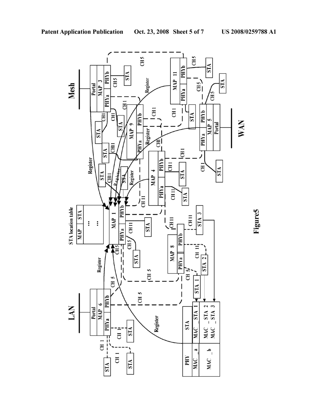 Method For Routing Mobile Node In Wireless Mesh Network And A Communication System Thereof - diagram, schematic, and image 06
