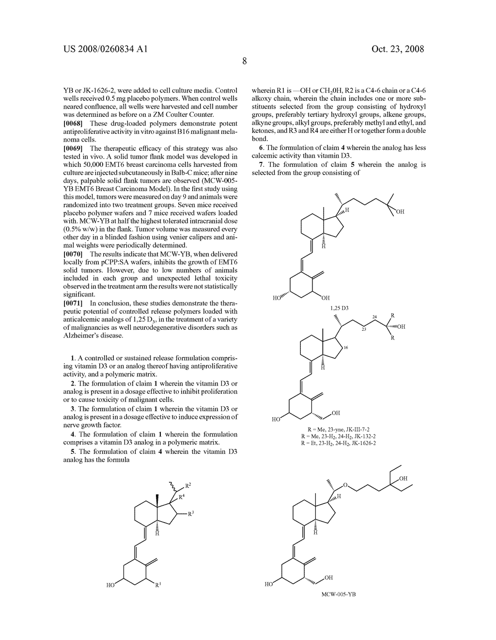 VITAMIN D3 ANALOG LOADED POLYMER FORMULATIONS FOR CANCER AND NEURODEGENERATIVE DISORDERS - diagram, schematic, and image 11