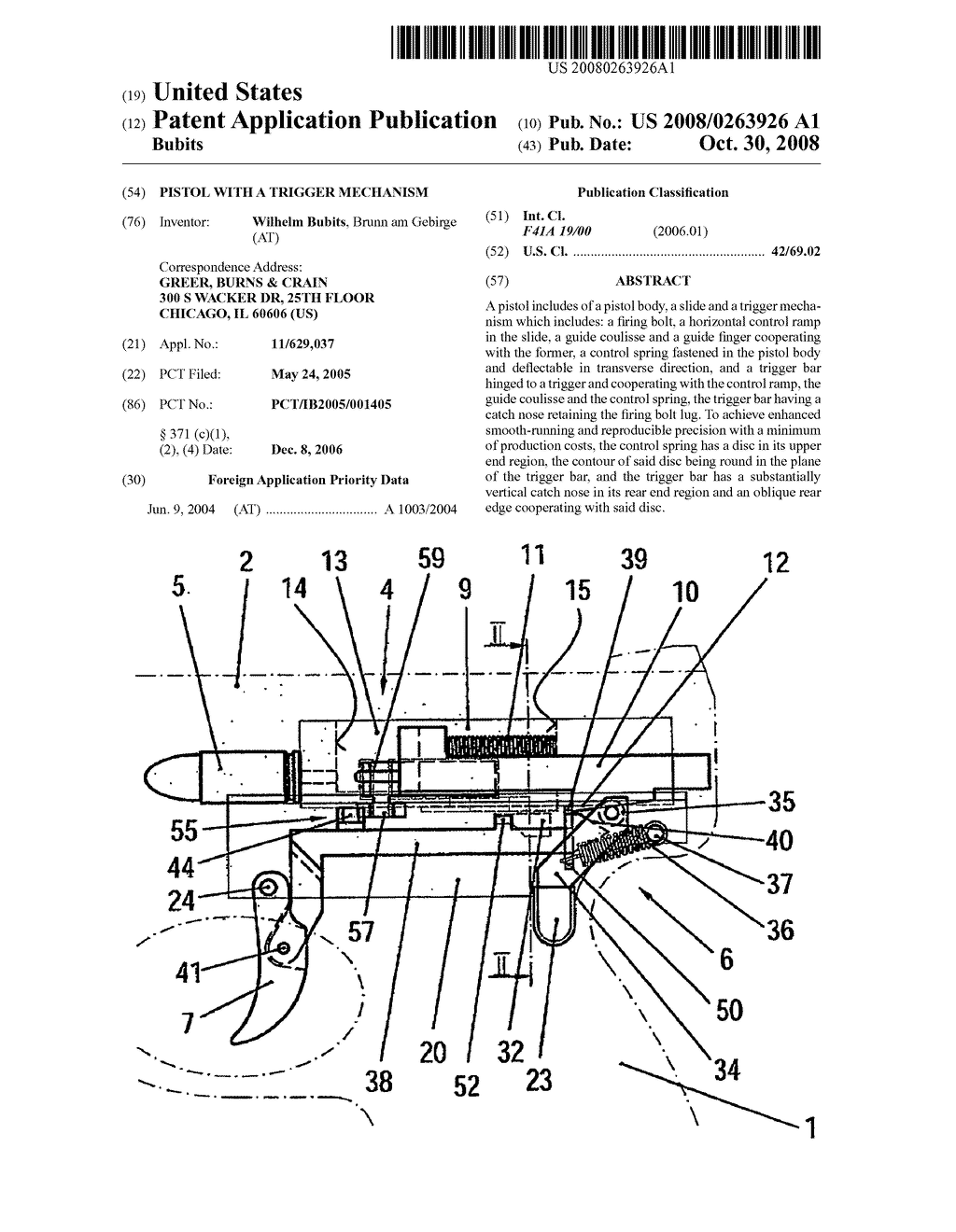 Pistol with a trigger mechanism diagram schematic and image 01 ccuart Image collections