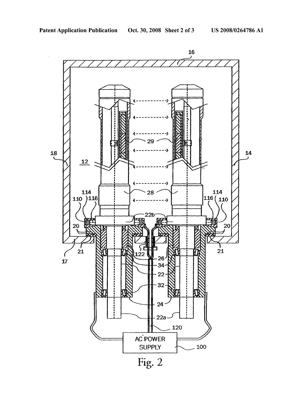 ALTERNATING CURRENT ROTATABLE SPUTTER CATHODE - diagram, schematic, and image 03