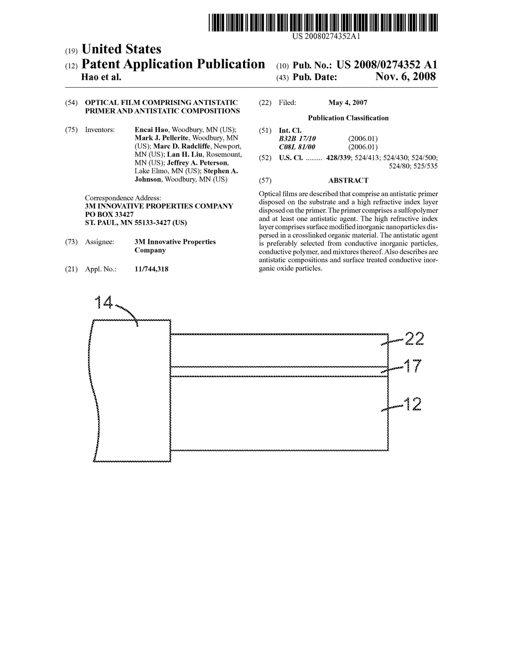 OPTICAL FILM COMPRISING ANTISTATIC PRIMER AND ANTISTATIC COMPOSITIONS - diagram, schematic, and image 01