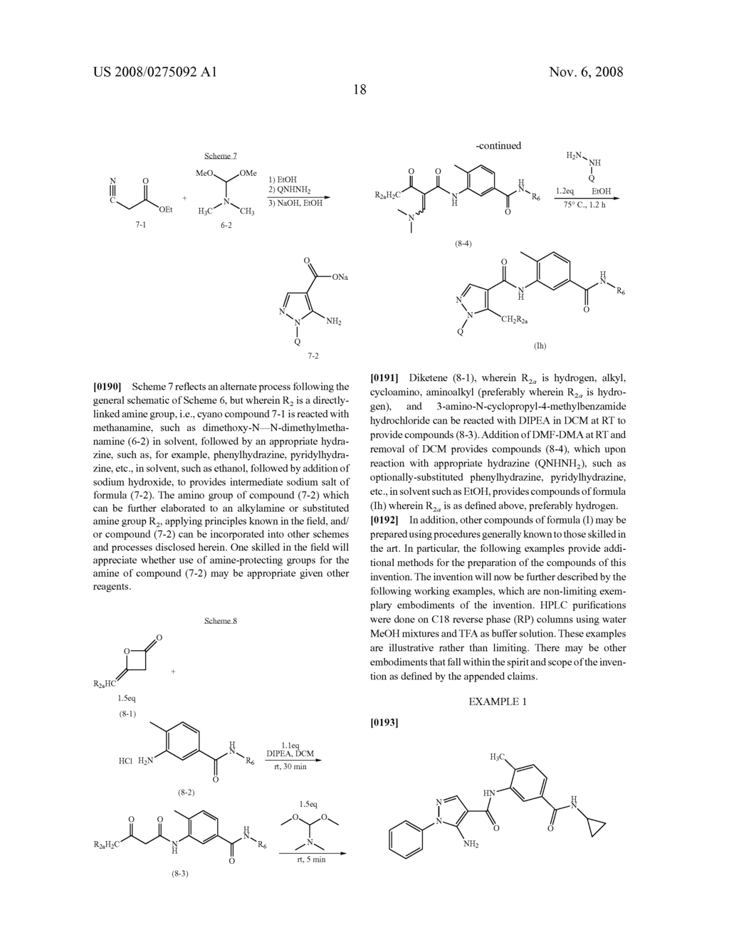 ARYL-SUBSTITUTED PYRAZOLE-AMIDE COMPOUNDS USEFUL AS KINASE INHIBITORS - diagram, schematic, and image 19