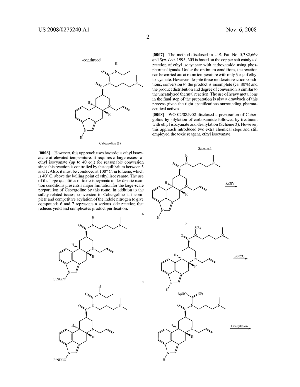 New and efficient process for the preperation of cabergoline and its intermediates - diagram, schematic, and image 03