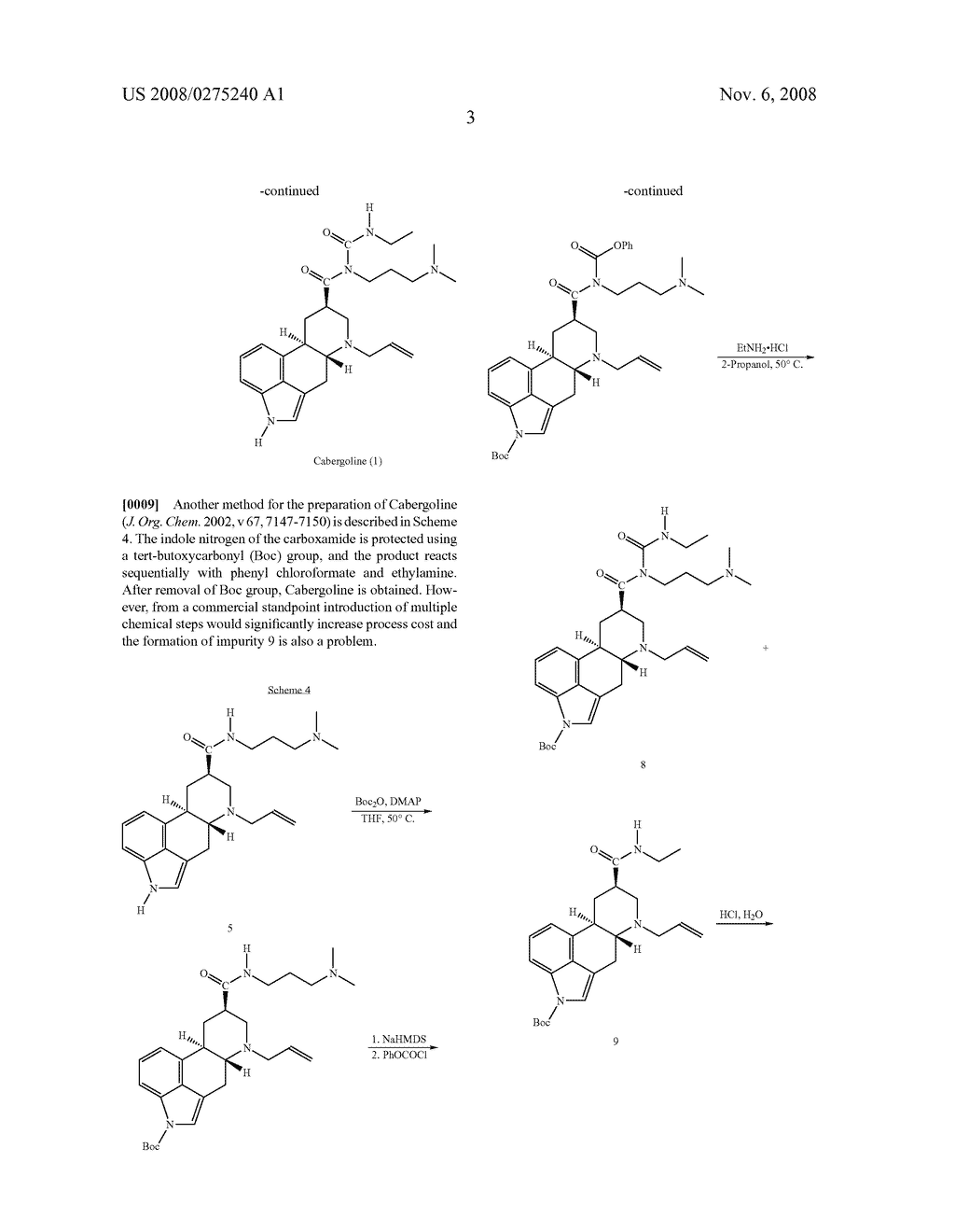 New and efficient process for the preperation of cabergoline and its intermediates - diagram, schematic, and image 04