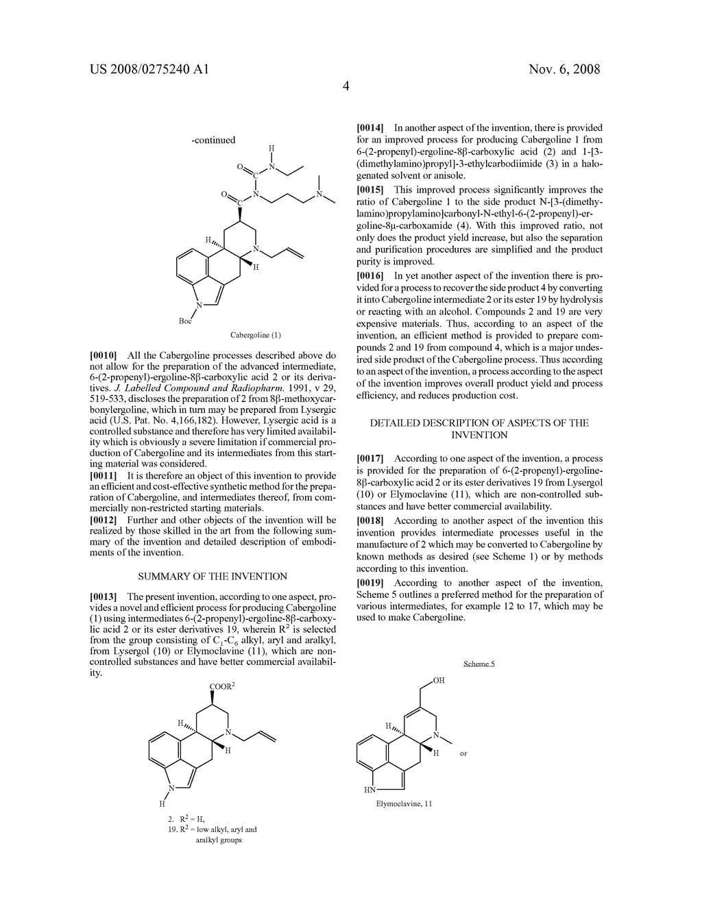 New and efficient process for the preperation of cabergoline and its intermediates - diagram, schematic, and image 05