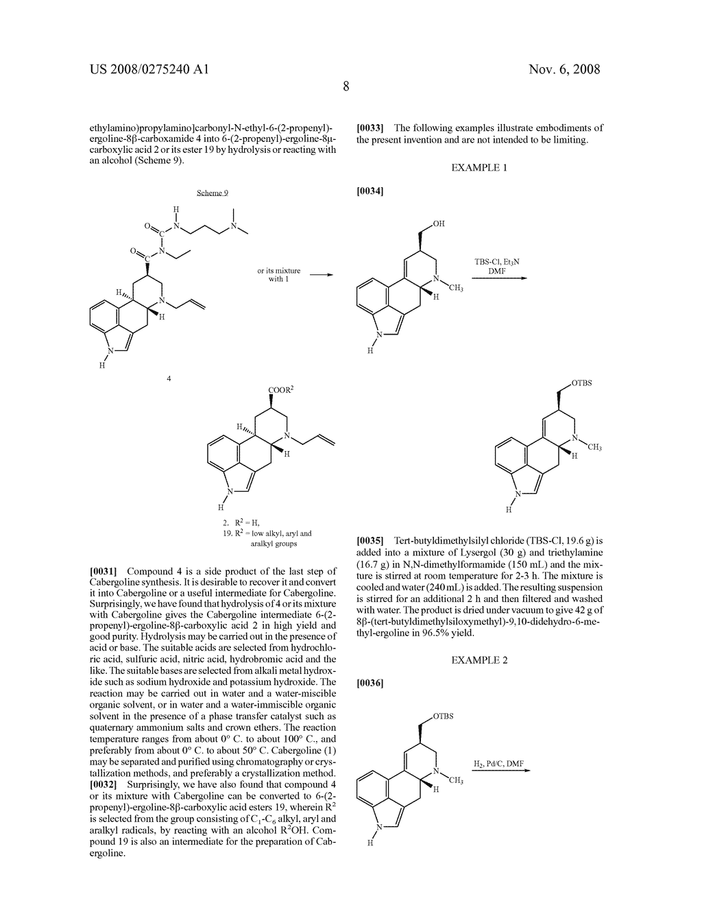 New and efficient process for the preperation of cabergoline and its intermediates - diagram, schematic, and image 09