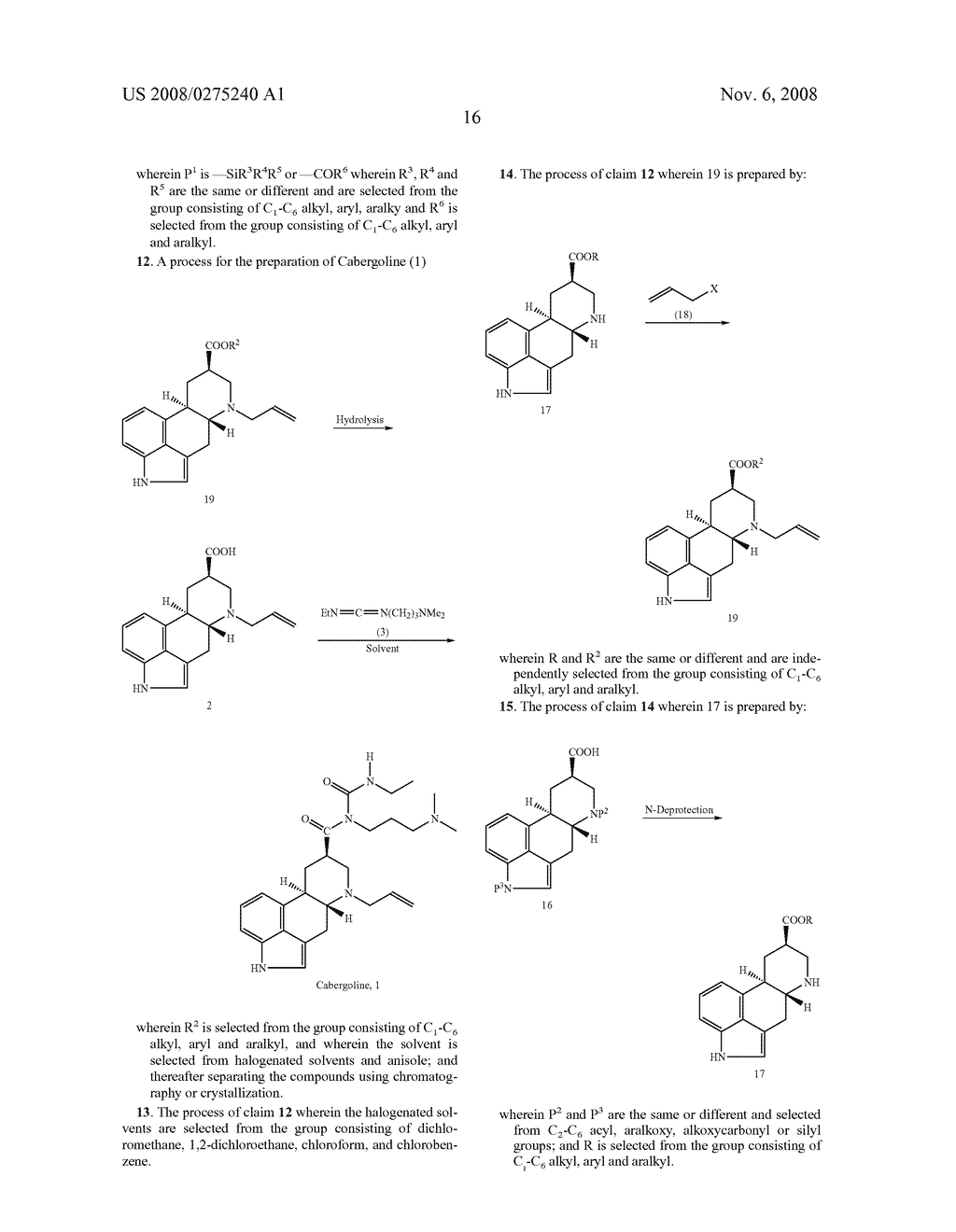 New and efficient process for the preperation of cabergoline and its intermediates - diagram, schematic, and image 17