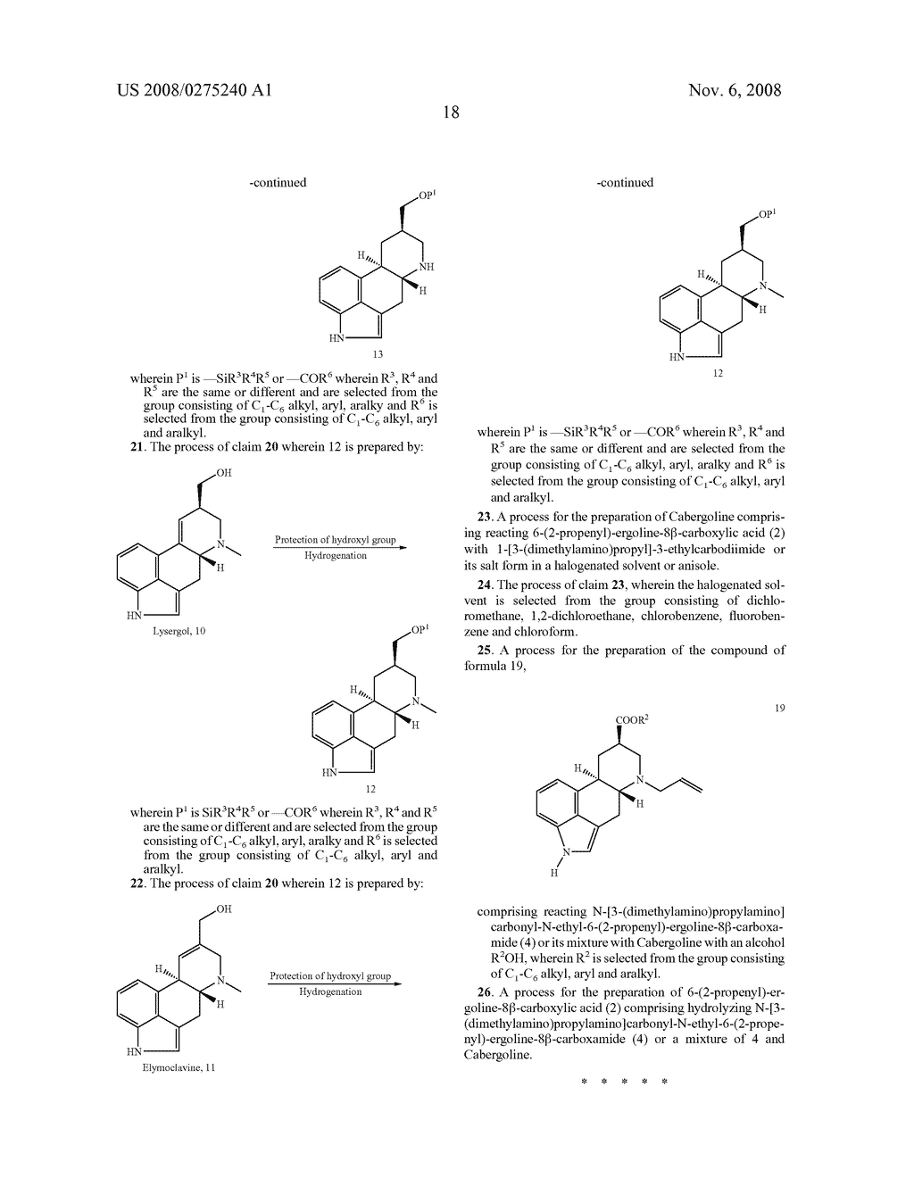 New and efficient process for the preperation of cabergoline and its intermediates - diagram, schematic, and image 19